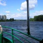 Blick auf die Elbe von der Fähre in MD Buckau
